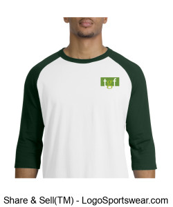 Baseball Tee (Green) Design Zoom