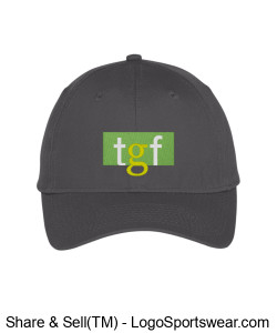 TGF Hat (Grey) Design Zoom