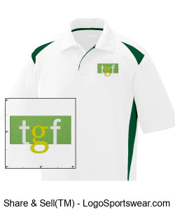 Color Block Polo (Green) Design Zoom